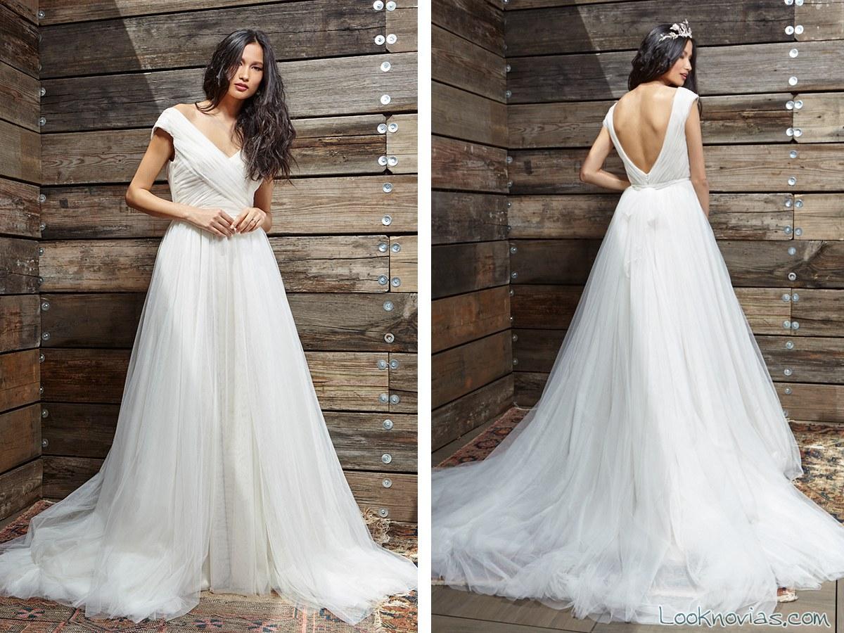vestido drapeado novias ivy y aster