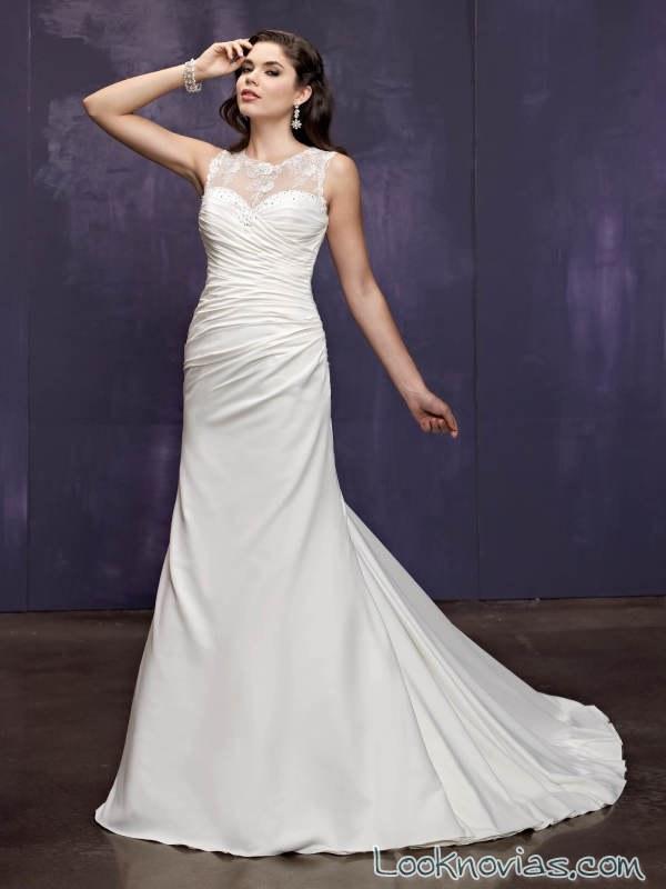 vestido drapeado sencillo ella rose