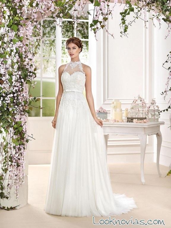 vestido elegante 2016 de fara sposa