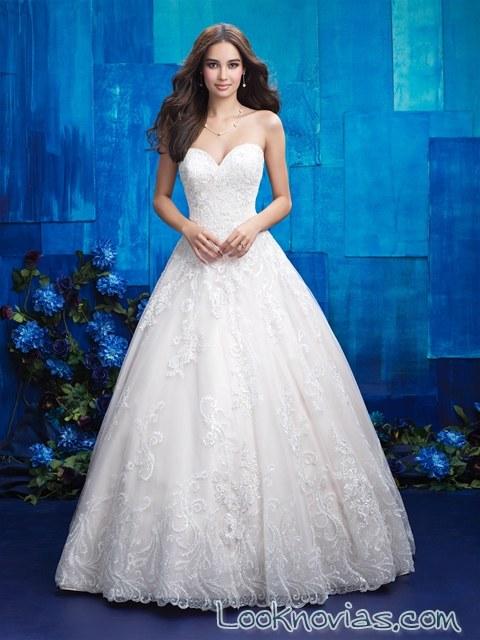 vestido elegante novias en color blanco