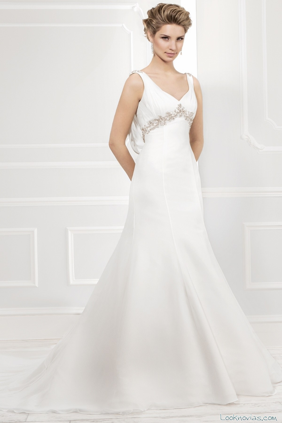 vestido ellis bridal corte imperior