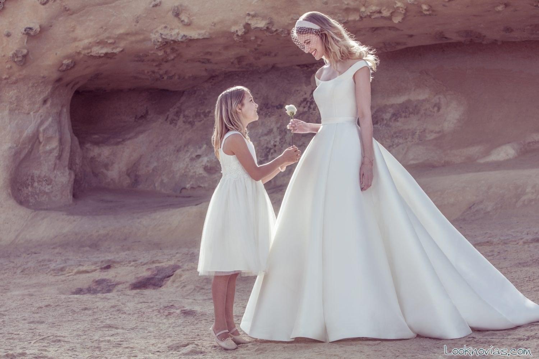vestido ellis bridal sencillo con tirantes
