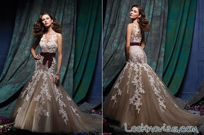 vestido en color alfred angelo