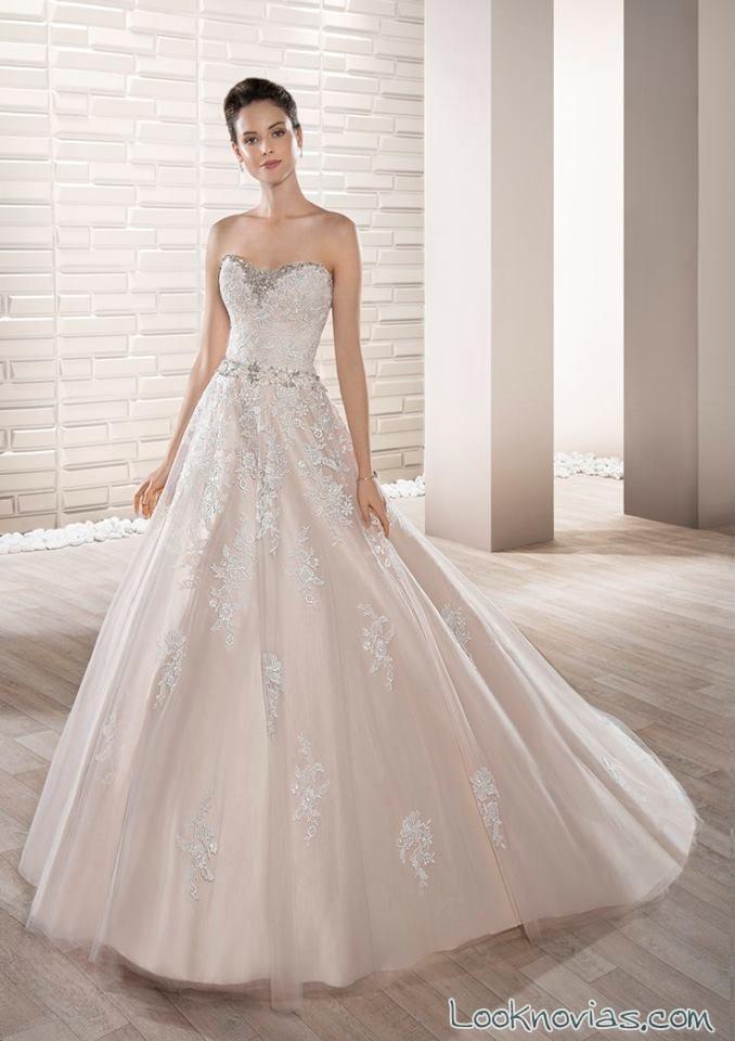 vestido en color con pedrería demetrios 2017