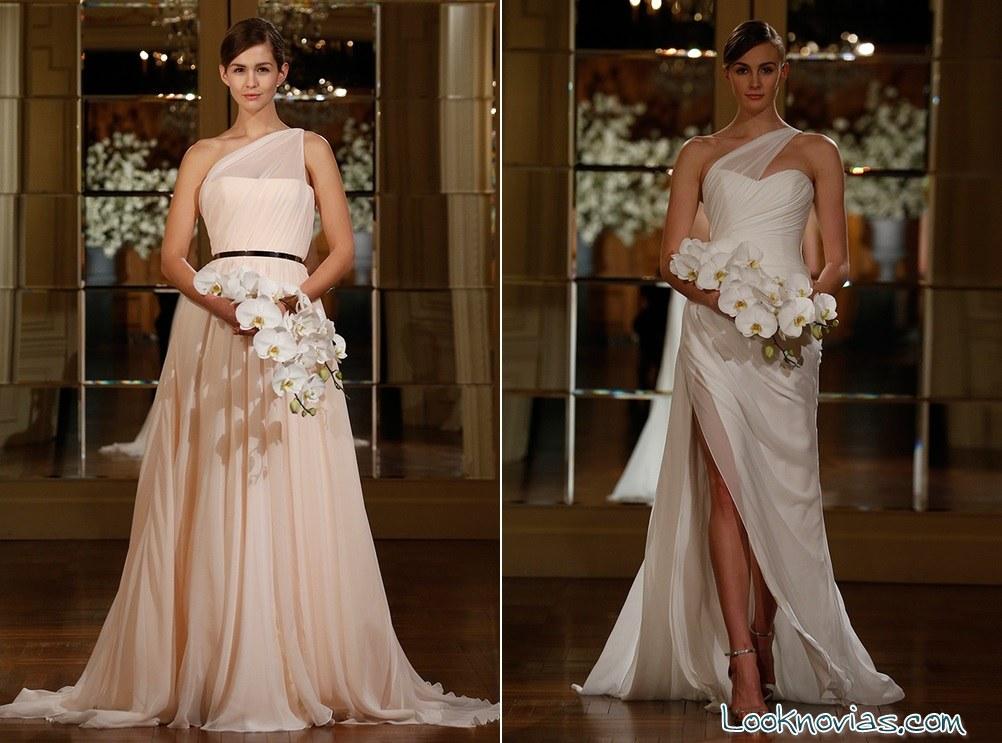 vestido en color para novia romona keveza