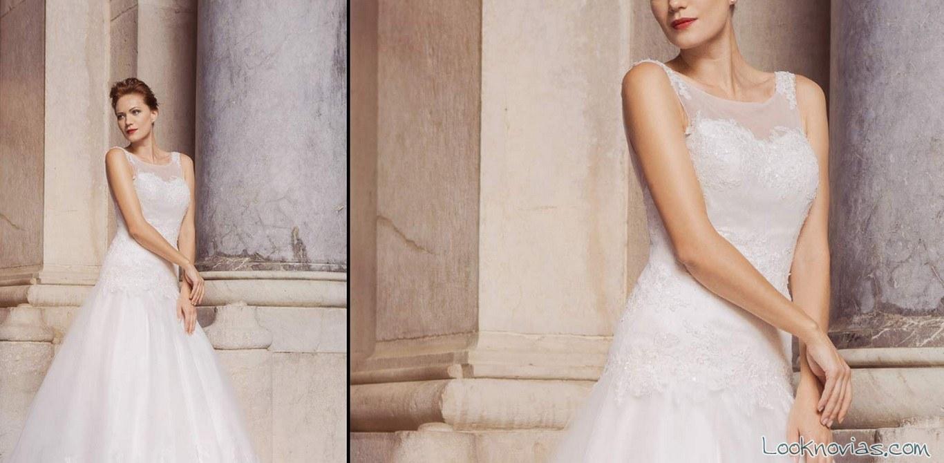 vestido escote evasé impero sposa