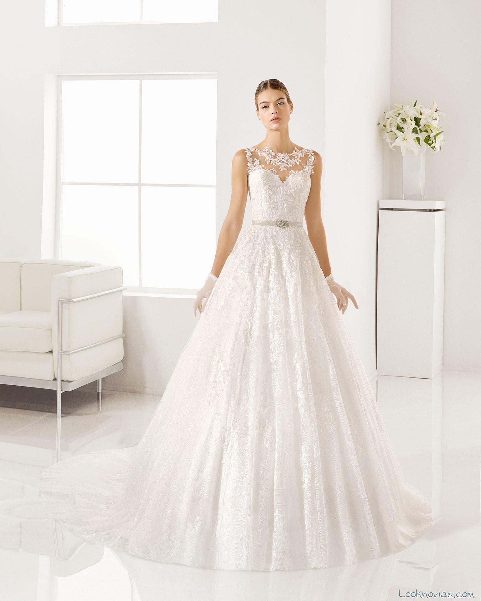 vestido evasé bordados alma novias