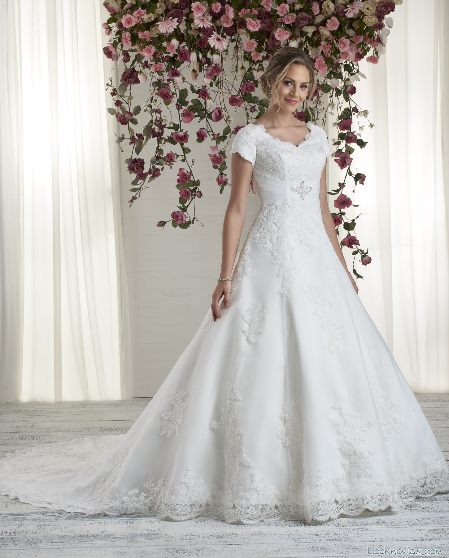 vestido evasé de novia bonny