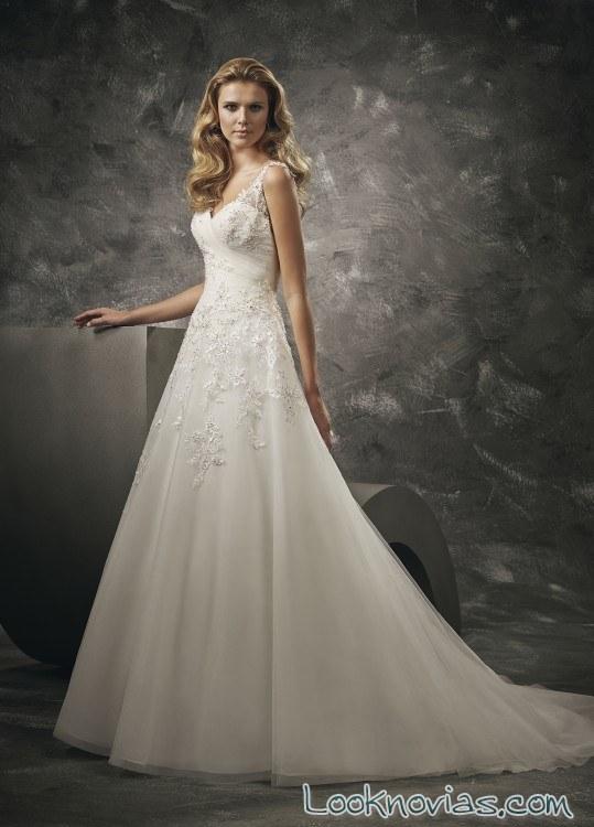 vestido evasé divina sposa con bordados