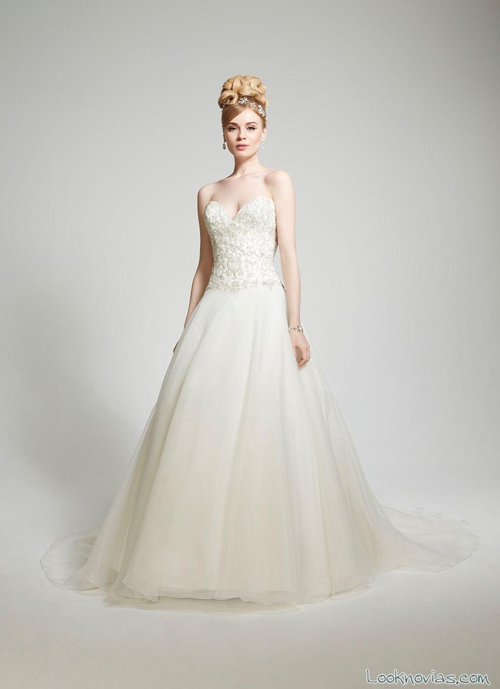 vestido evasé novia colección matty