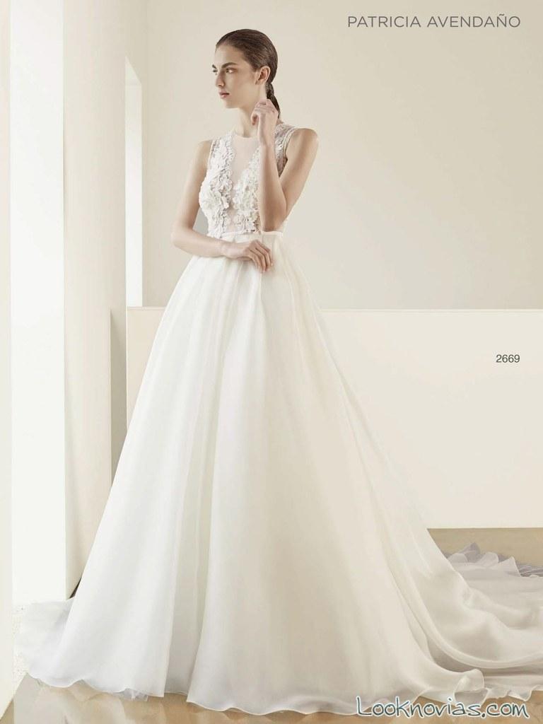 vestido evasé novias patricia avendaño