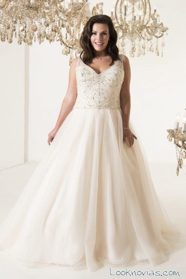 vestido evasé novias plus size callista