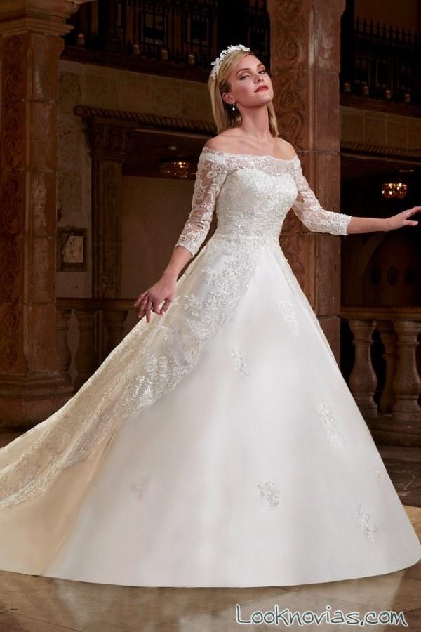 vestido evasé para novias mary´s bridal