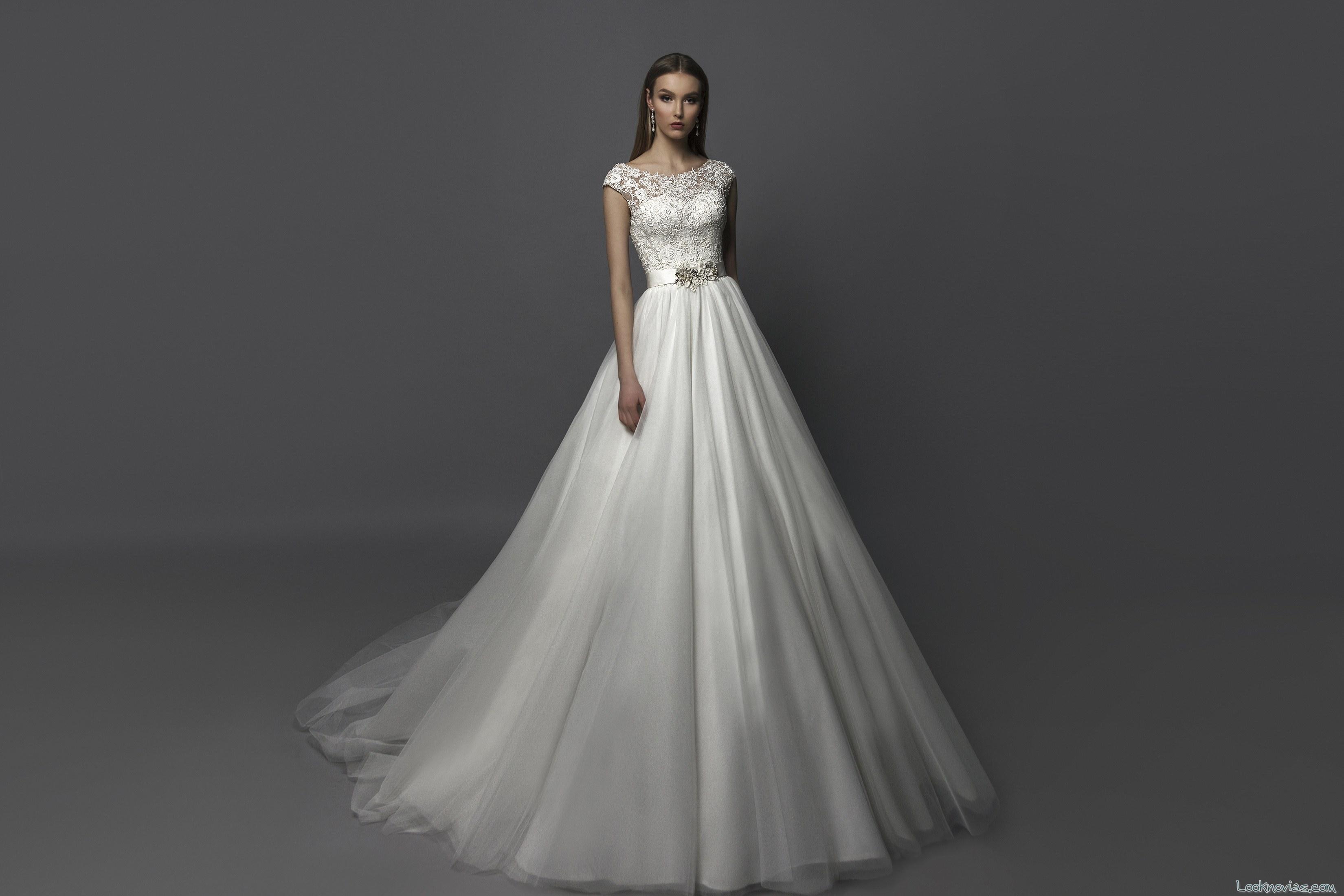 vestido evasé volumen novias eva lendel