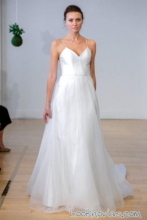 vestido falda de tul carol hannah novias