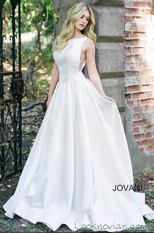 vestido falda evase novia jovani