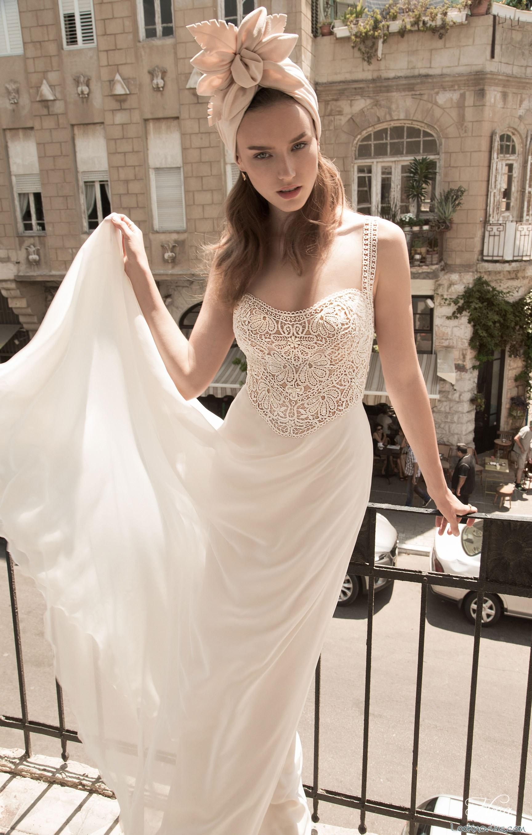 vestido flora bridal elegante y sencillo