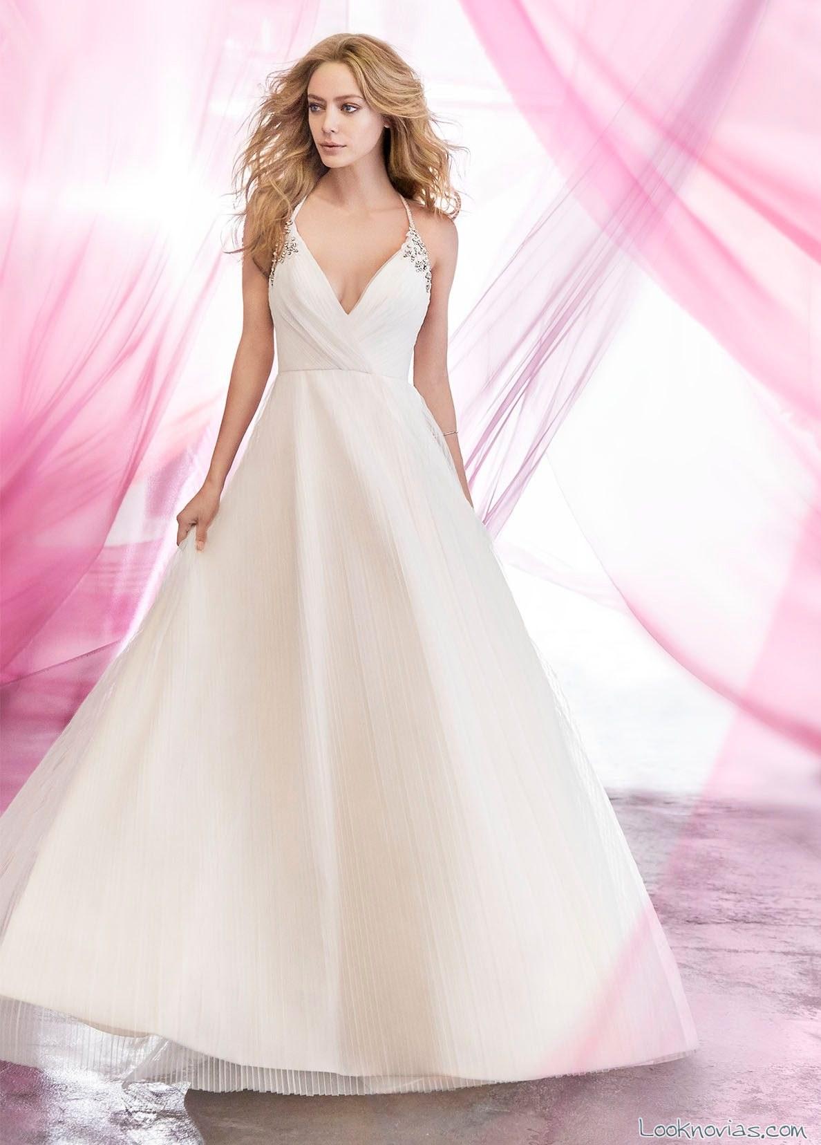vestido hayley paige color novias