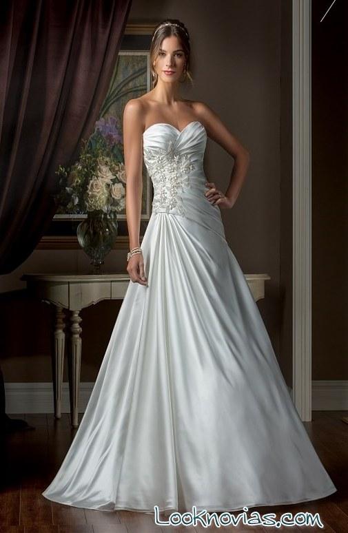vestido jasmine bridal satinado