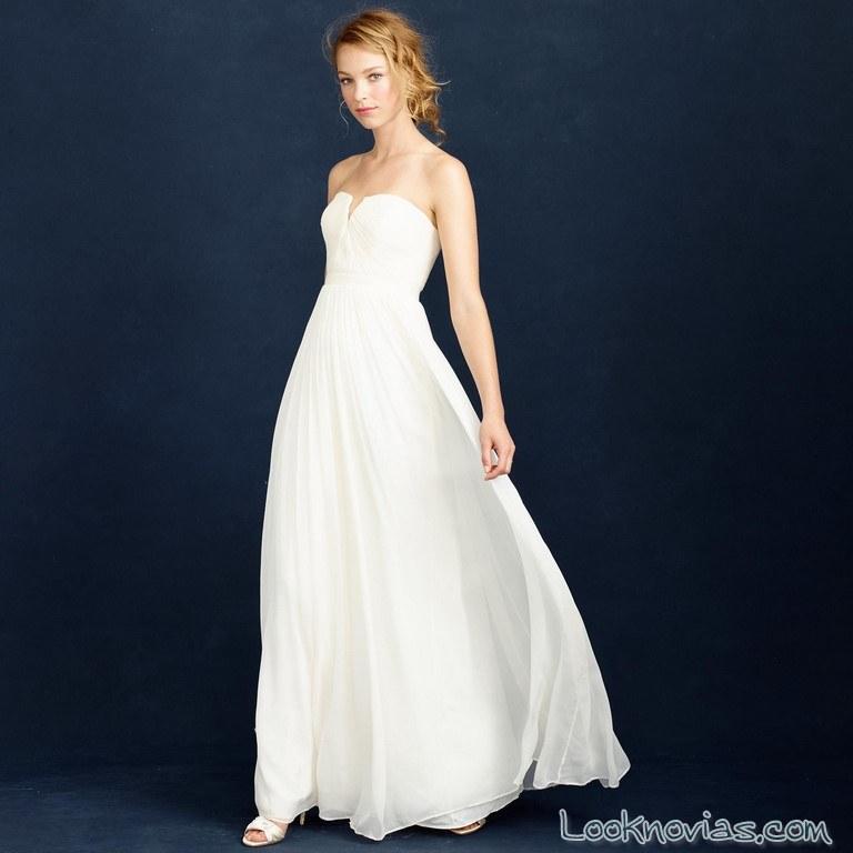 vestido jcrew vaporoso en blanco