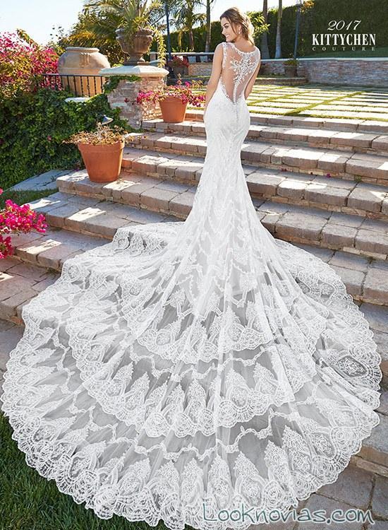 vestido kittychen larga cola