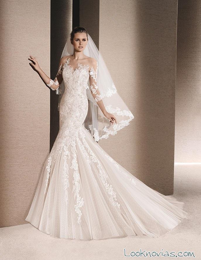 vestido la sposa con mangas