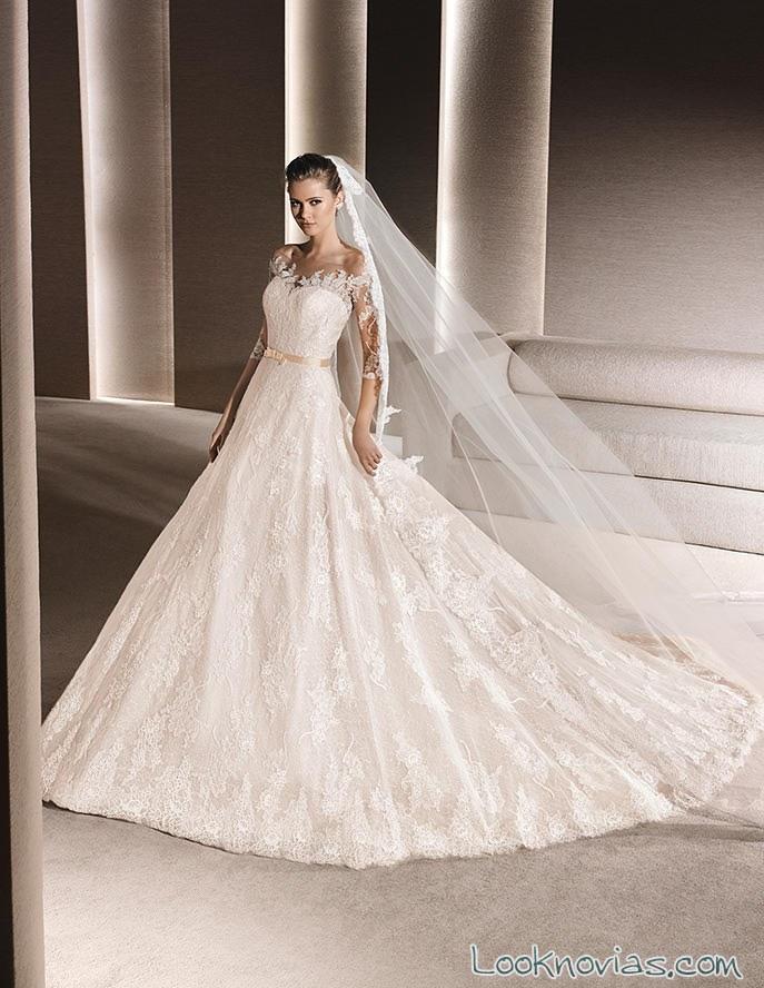 vestido la sposa princesa con bordados