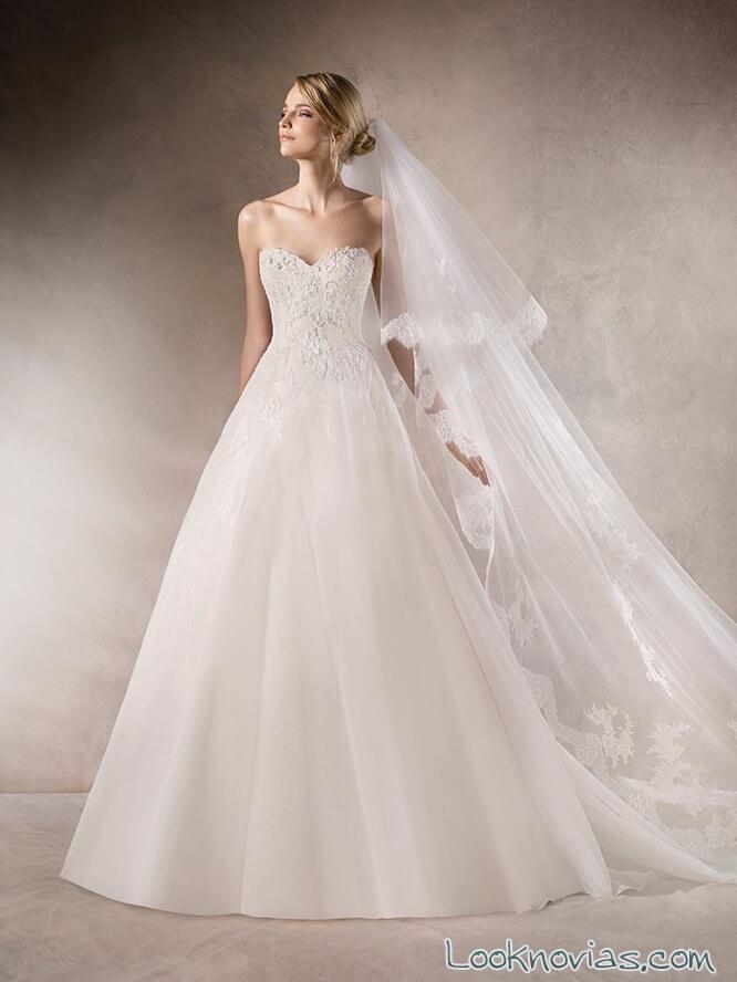 vestido la sposa sencillo 2017