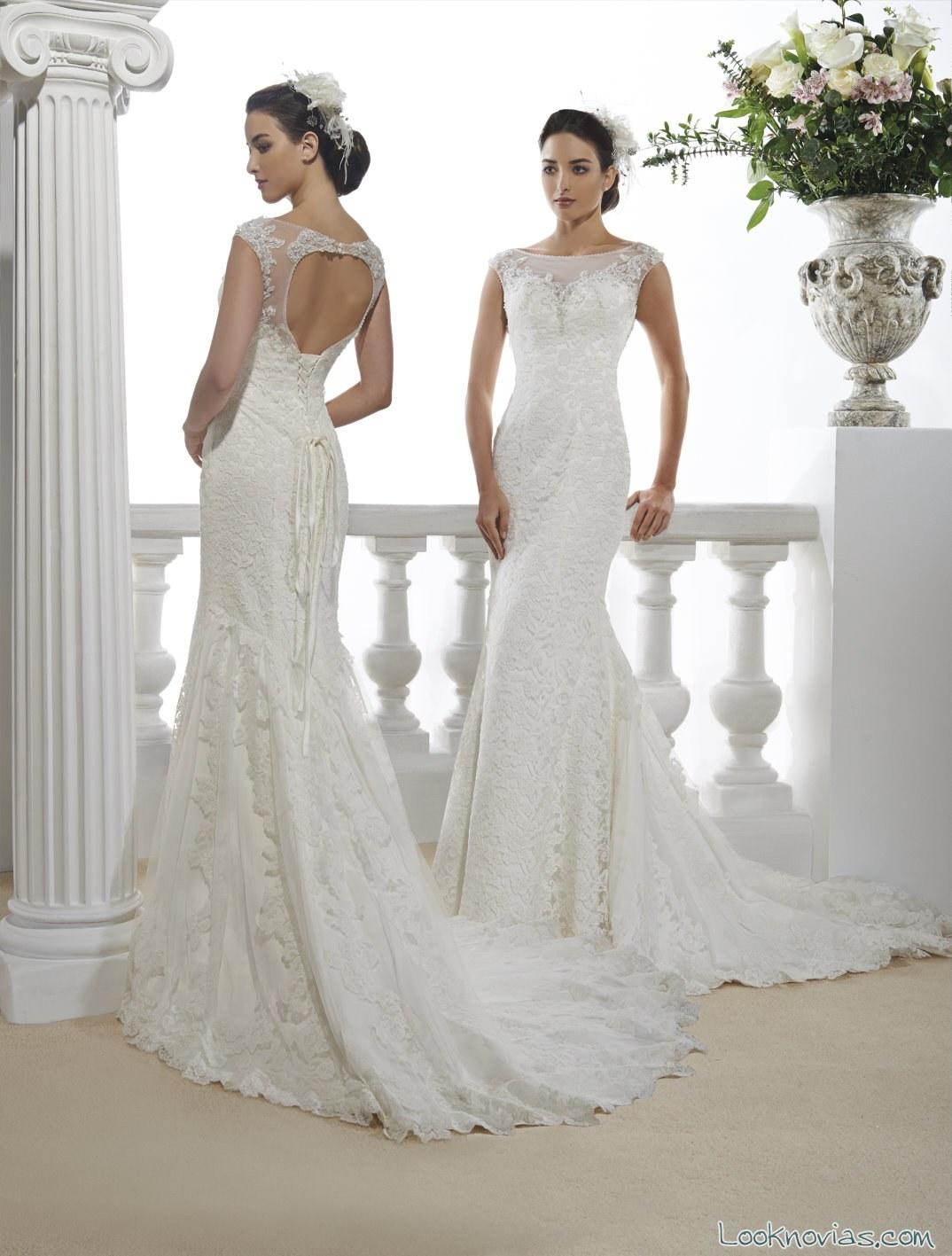 vestido largo blanco con escote en espalda