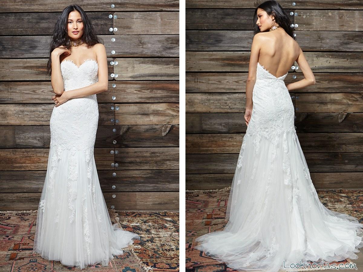 vestido largo de novia blanco