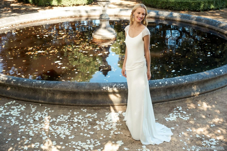 vestido largo de novia marylise 2017