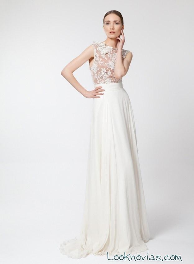 vestido largo de novia por santos costura