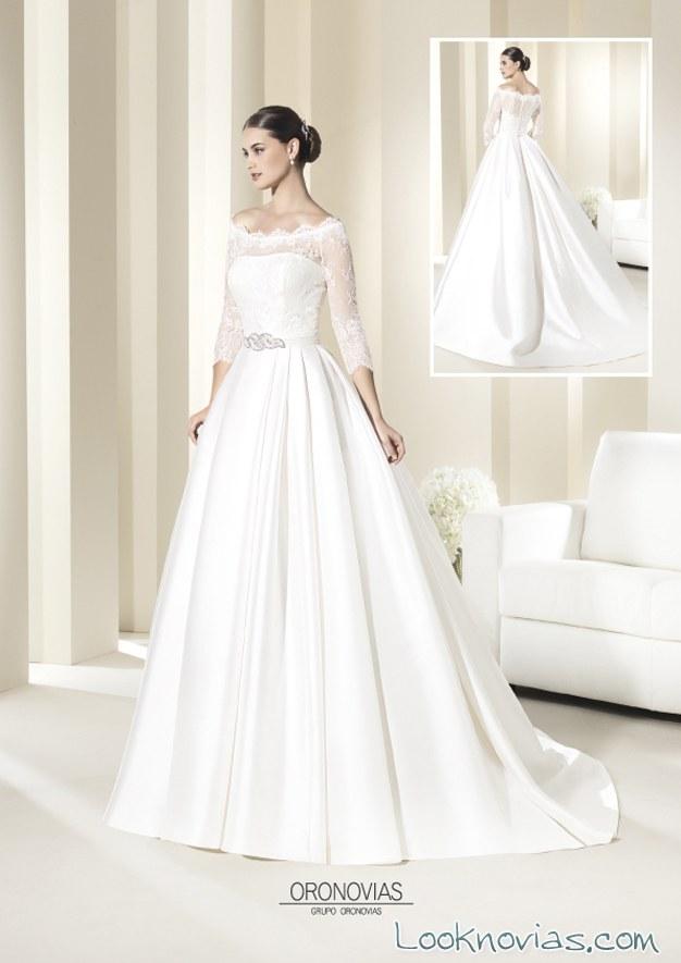 vestido largo de novias oronovias