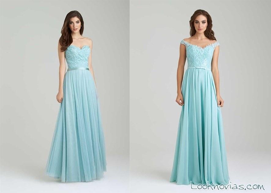 vestido largo en azul para invitada