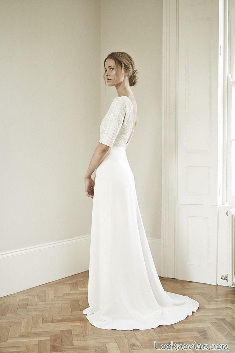 vestido largo novia sencillo charlotte simpson