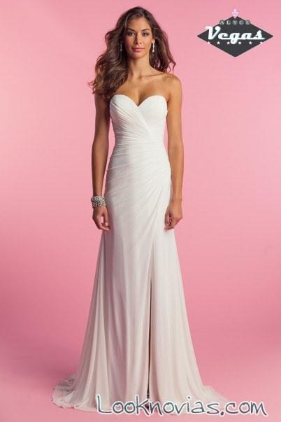 vestido largo sencillo de tejido suave