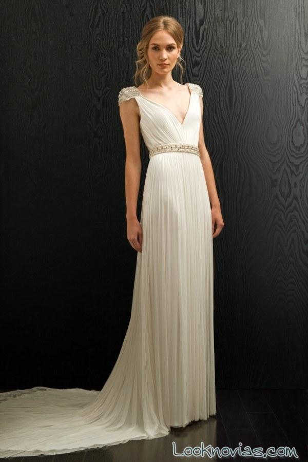 vestido liso para novias 2017