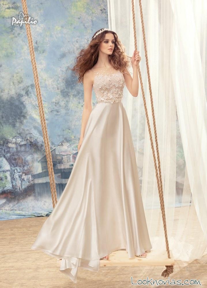 vestido liso satinados papilio