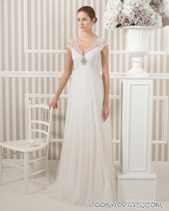 vestido luna novia recto