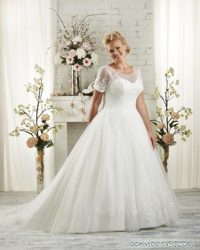 vestido manga corta bonny bridal