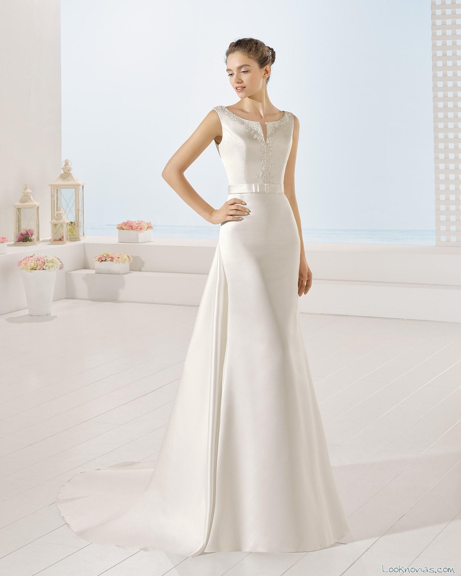 vestido manga corta luna novias
