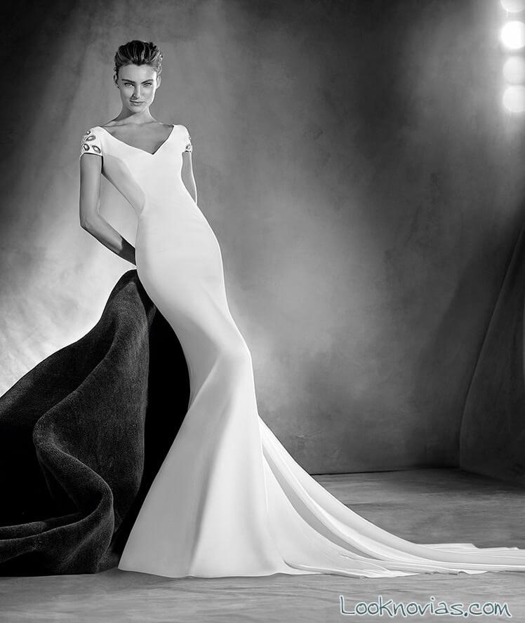vestido minimalista atelier pronovias 2017