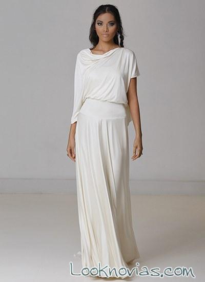vestido minimalista para novia