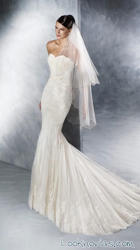 vestido muy ceñido para novias