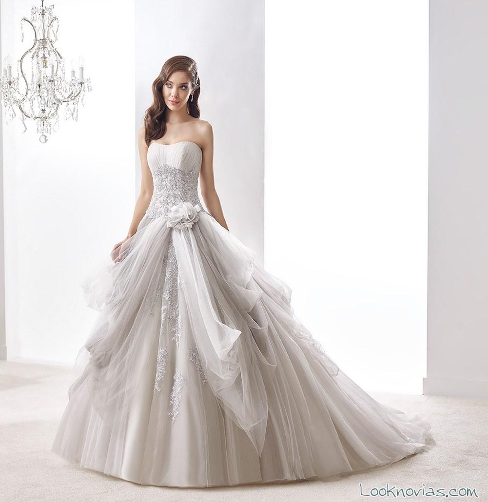 vestido nicole sposa en color para novias