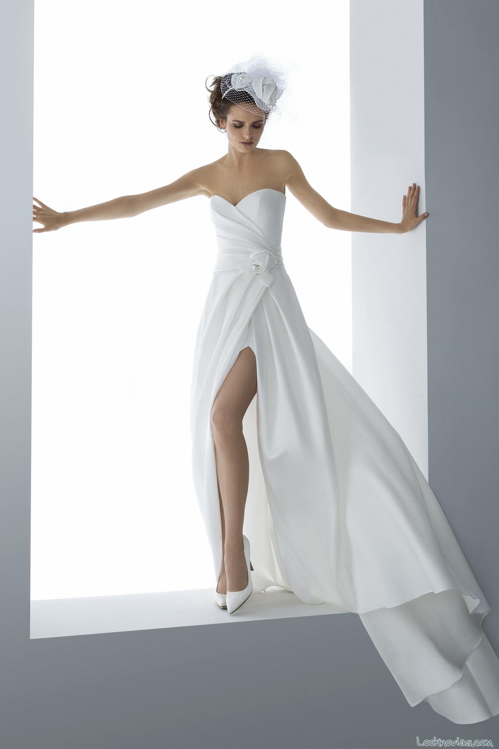 vestido novia abertura egó