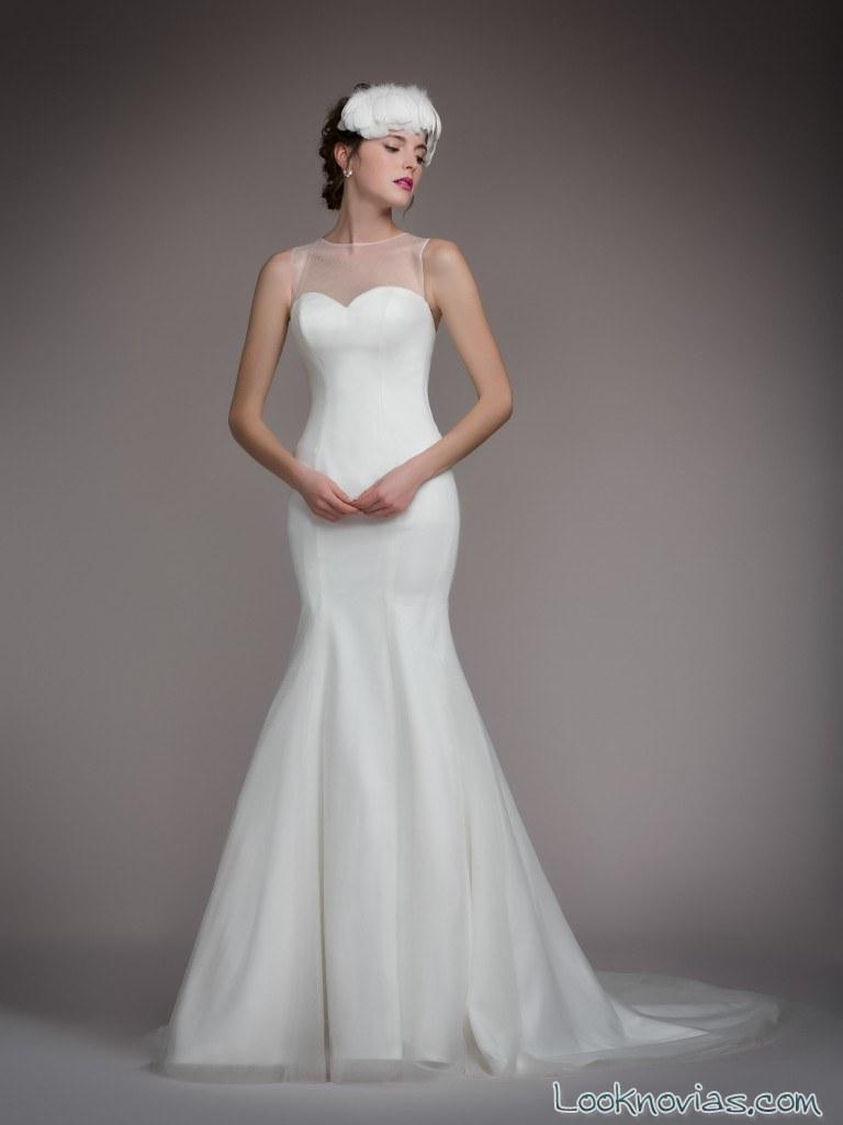 vestido novia blancary sirena sencillo