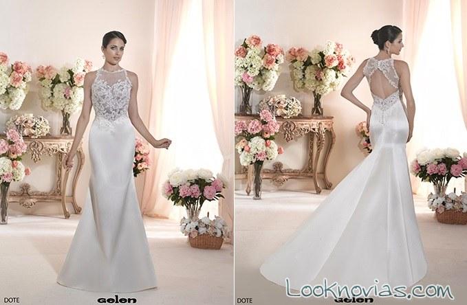 vestido novia blanco sirena gelen novias