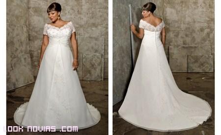 vestido novia con escote V