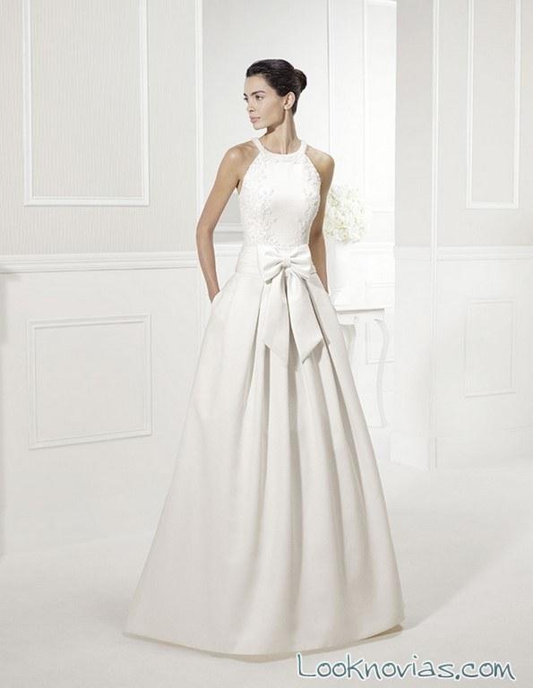 vestido novia con lazo cintura